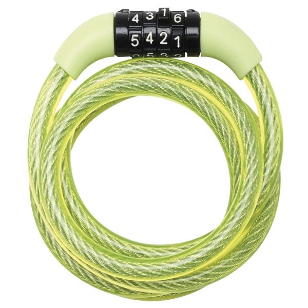 Spirálový kombinační zámek na kolo Master Lock 8143EURDPROCOL - 1,2m - zelený