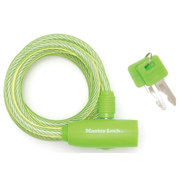 Spirálový zámek na kolo Master Lock 8212EURDPRO - 1,8m - zelený